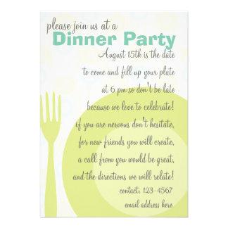 Dinner Party Pattern Invitation