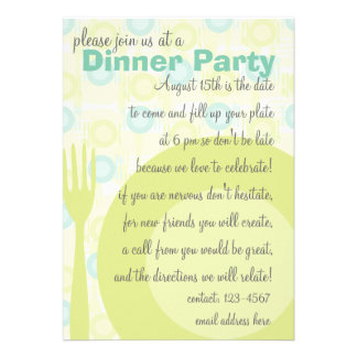 Dinner Party Pattern Personalized Announcement