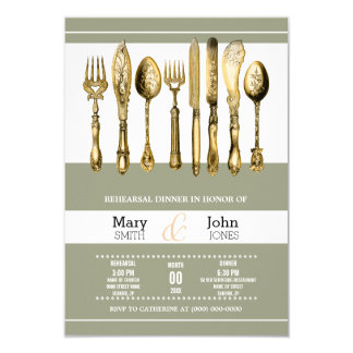 Dinner party PERSONALIZE 3.5x5 Paper Invitation Card