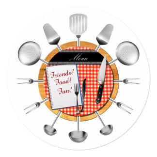 Dinner Party Round Invitation - SRF