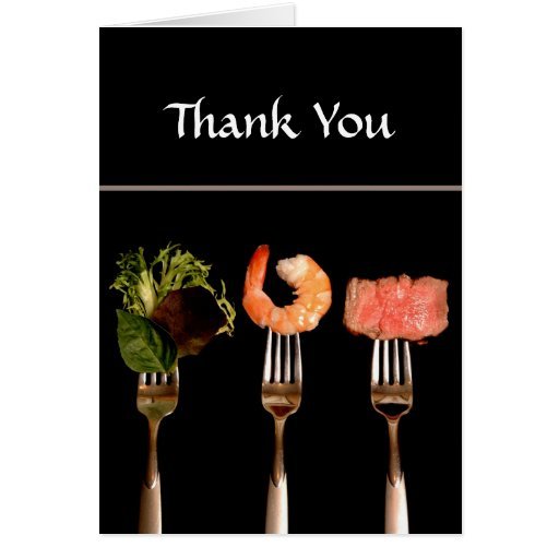 Dinner Party Thank You Card Greeting Cards