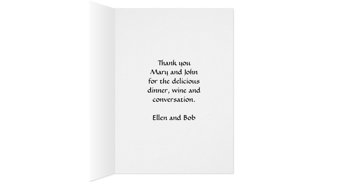 Dinner Party Thank You Card | Zazzle