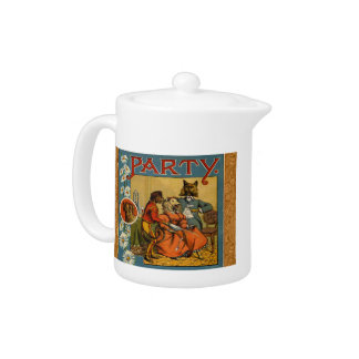Dinner Party Vintage dogs Teapot