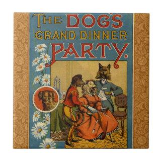Dinner Party Vintage dogs Tile