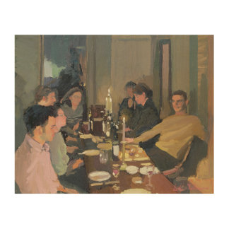 Dinner Party Wood Wall Art
