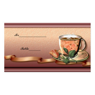 Dinner Place Card Double-Sided Standard Business Cards (Pack Of 100)