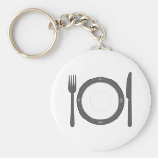 Dinner Place Setting Keychain
