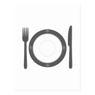 Dinner Place Setting Post Card