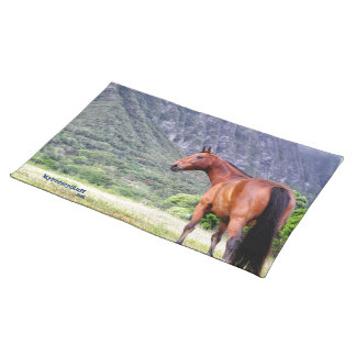 Dinner placemats, horse design, rectangle cloth placemat