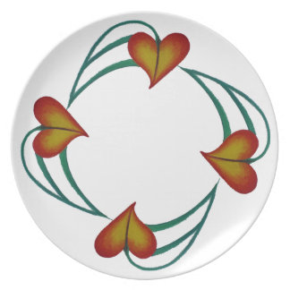 DINNER PLATE hearts