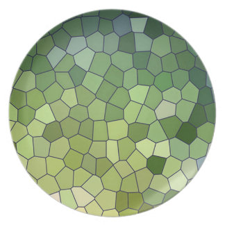 Dinner Plates with Crackle Patterns
