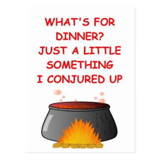 dinner postcard