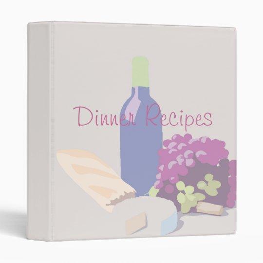 Dinner Recipes Binder