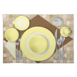 """""""Dinner Setting #3"""" Placemat Cloth Placemat"""