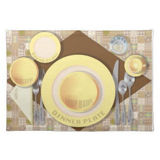 """Dinner Setting #4"" Placemat"