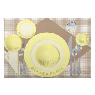 """DInner Setting"" Placemat"