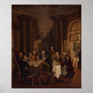 Dinner Table at Sanssouci, 1850 Poster