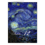 Dinner table card. Vincent van Gogh, Starry Night Cards