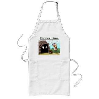 Dinner Time Caveman Apron - Funny