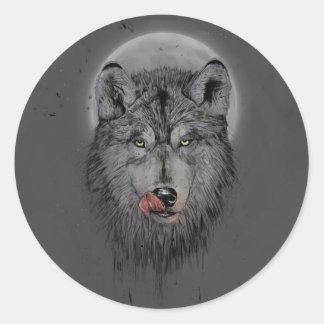 Dinner time (dark version) classic round sticker