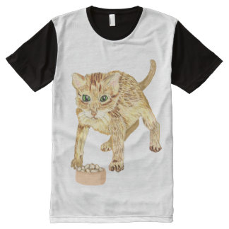 Dinner Time For Kitty All-Over Print T-shirt