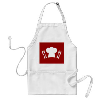 Dinner Time Master Chef Cute Hat and Cutlery Adult Apron