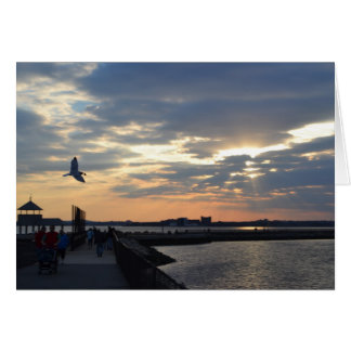 Dinner Time Over Castle Island Greeting Card