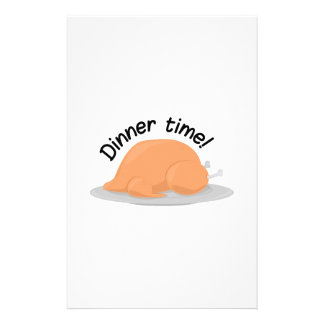 Dinner Time Personalized Stationery