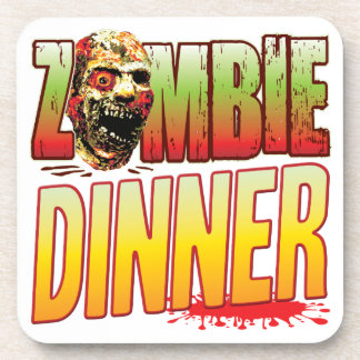 Dinner Zombie Head Beverage Coaster