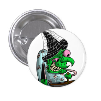 Dinnerlady Witch 1 Inch Round Button