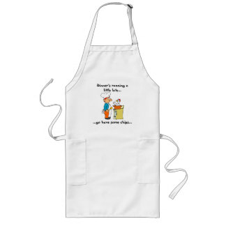Dinner's Late Long Apron