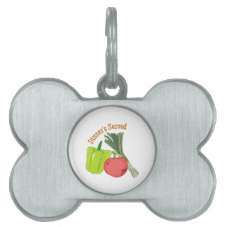 Dinner's Served Pet ID Tags