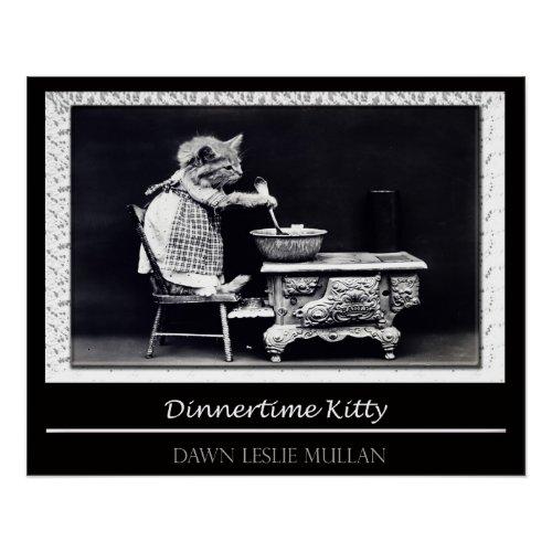Dinnertime Kitty Poster