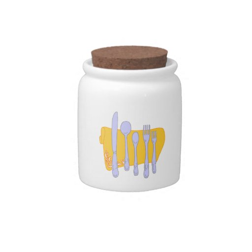 Dinnerware Cooking Design Template Candy Jars