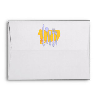 Dinnerware Cooking Design Template Envelope