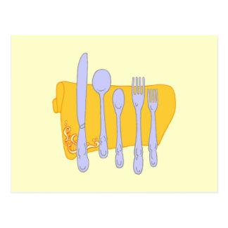 Dinnerware Cooking Design Template Postcard