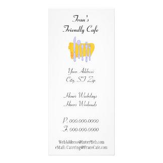 Dinnerware Custom Restaurant Advertising Template Customized Rack Card