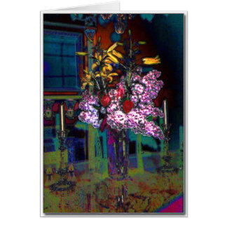 Dinning room flower arrangement Greeting Card