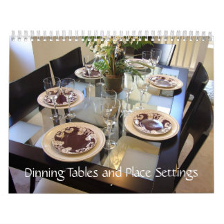 Dinning Tables and Place Settings Calendar