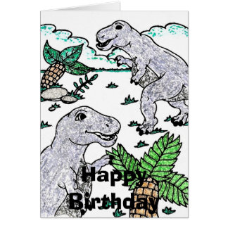 dino2, Happy Birthday Card
