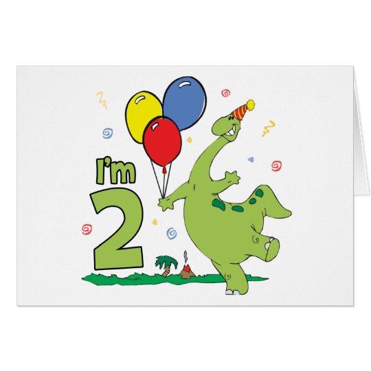 Dino 2nd Birthday Invitations