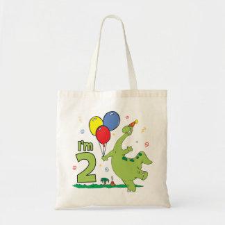 Dino 2nd Birthday Tote Bag