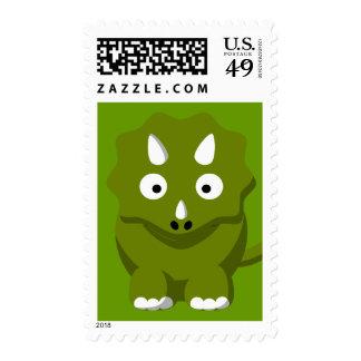 dino-306331 BABY GREEN DINOSAUR CARTOON  dino dino Postage Stamps