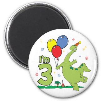 Dino 3rd Birthday Magnet