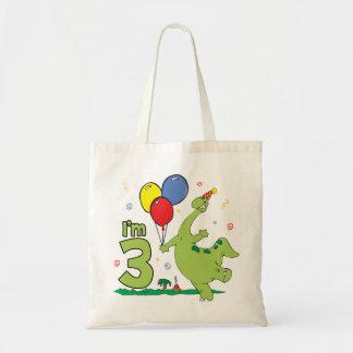 Dino 3rd Birthday Tote Bag