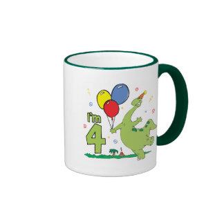 Dino 4th Birthday Mug