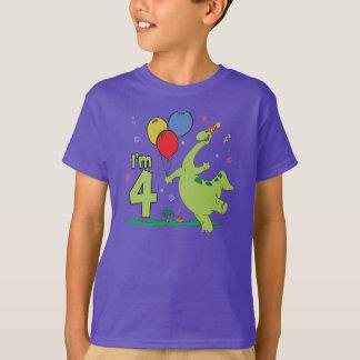 Dino 4th Birthday T-Shirt