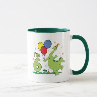 Dino 6th Birthday Mug
