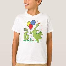 Dino 6th Birthday T-Shirt