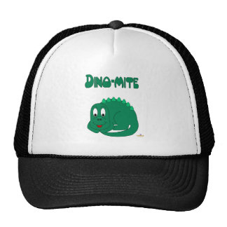 Dino-ácaro lindo del Lt dinosaurio verde del bebé Gorros Bordados